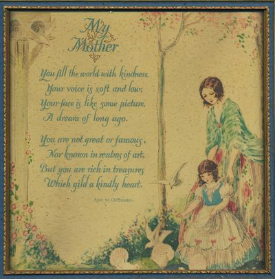 poems for mothers from daughters. mother and daughter