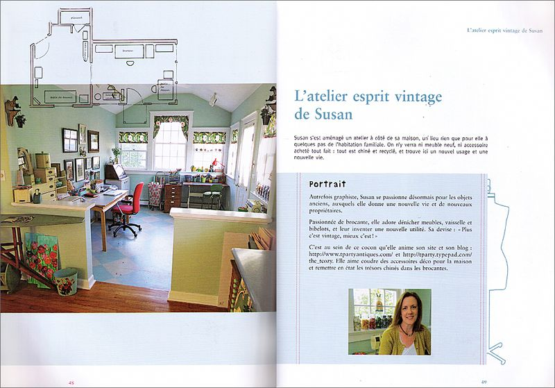 French Sewing Room Book Spread #1