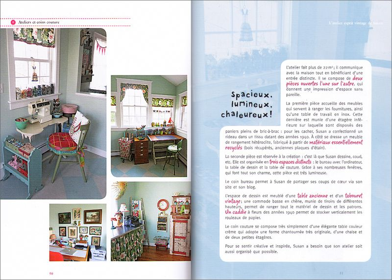French Sewing Room Book Spread #2