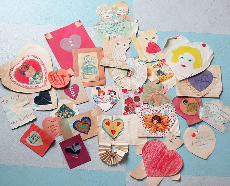 Valentine S Day Cards Handmade By Kids In The 1930s The T Cozy