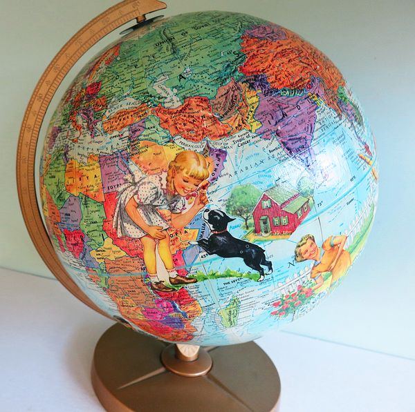 Globes For Sale >> Handmade Altered Art Globe Tutorial - The T-Cozy