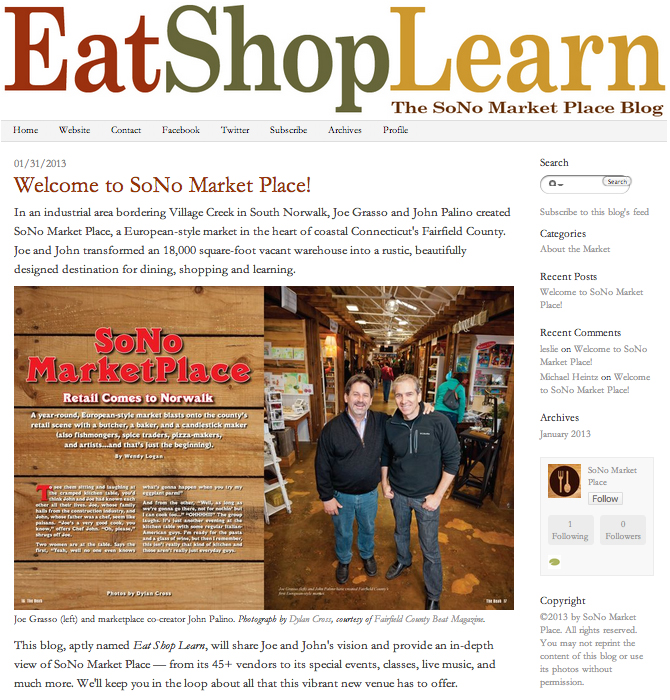 Eat Shop Learn Blog