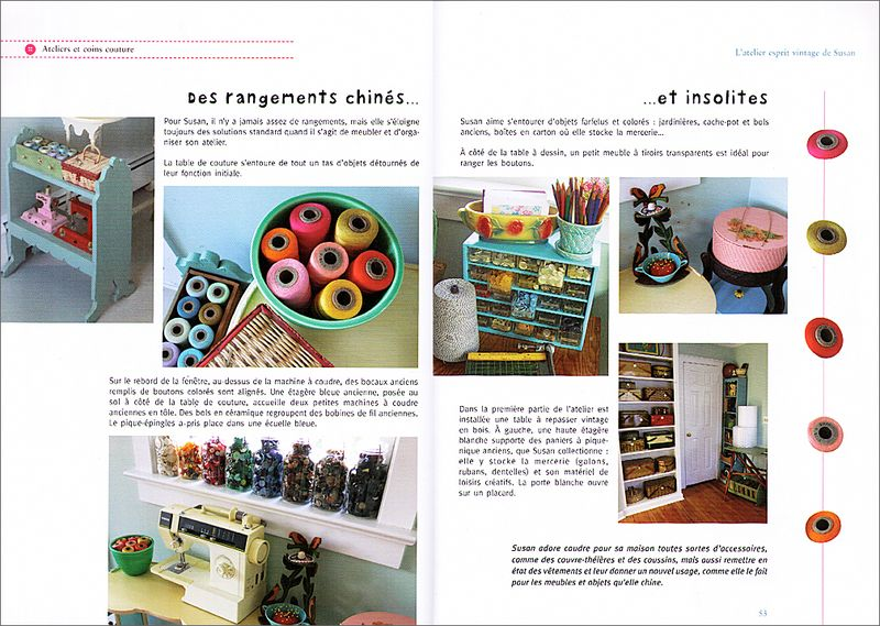French Sewing Room Book Spread #3
