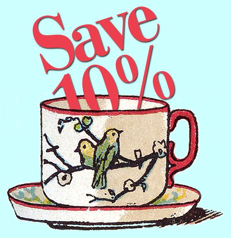 10% Off Teacup