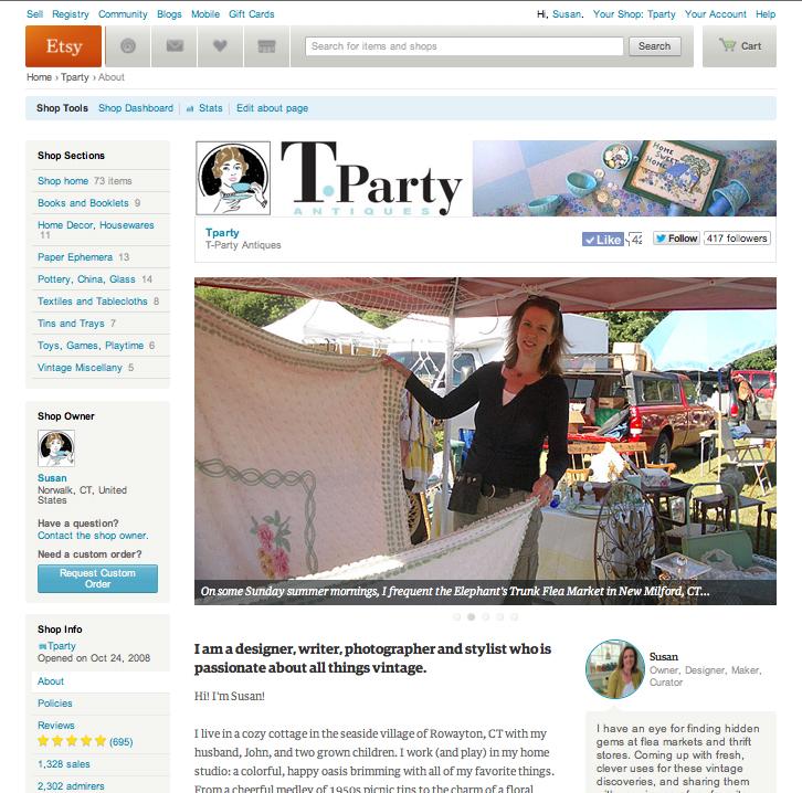 Etsy About Page Flea Market Shot