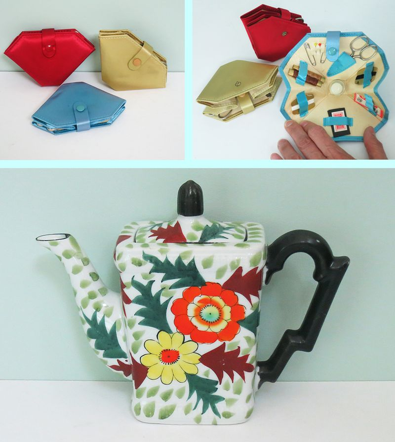 Sewing Kits & Teapot