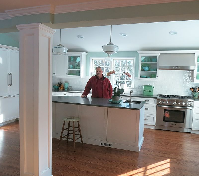 Jeff in the New Kitchen