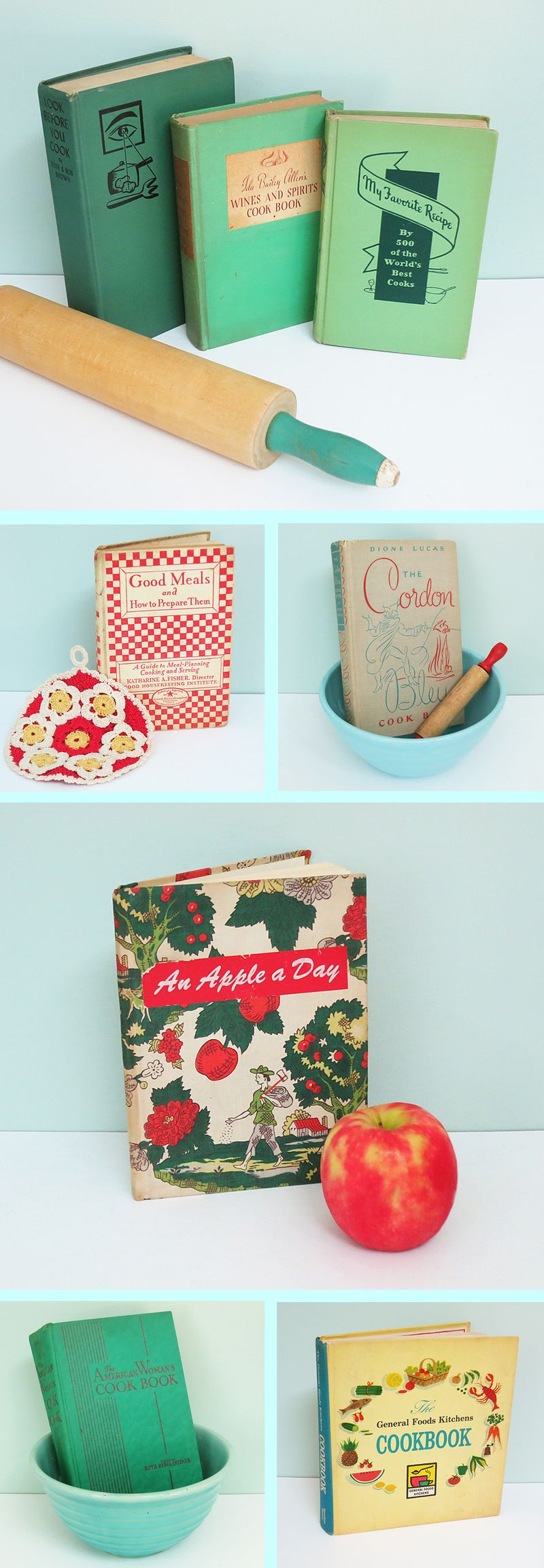8 Vintage Cook Books