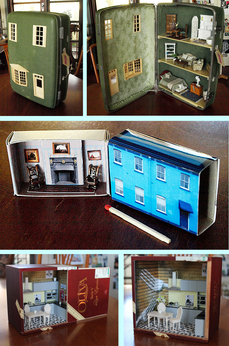 Repurposed Doll Houses