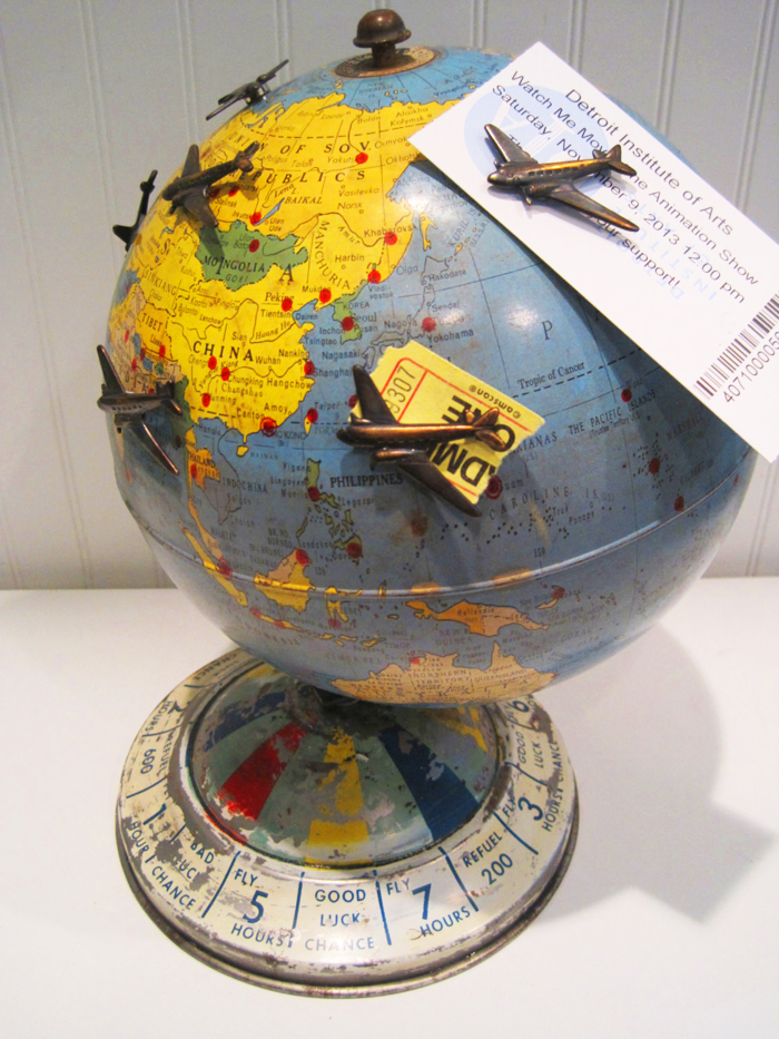 Magnetic air race globe