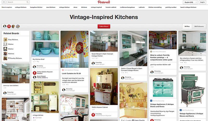 Pinterest Vintage Inspired Kitchens