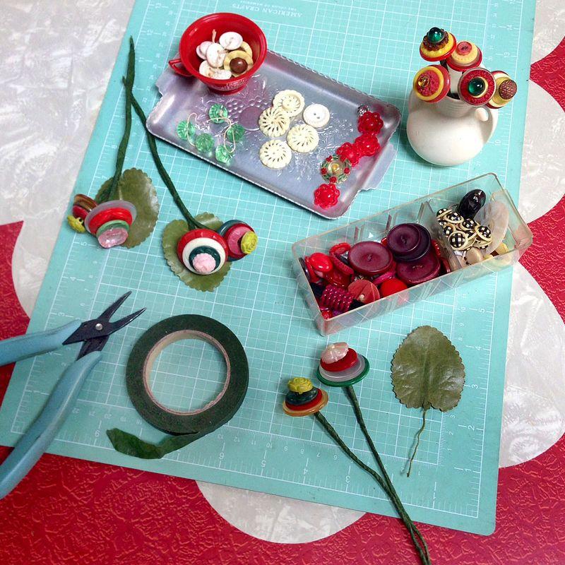 Making Button Bouquets