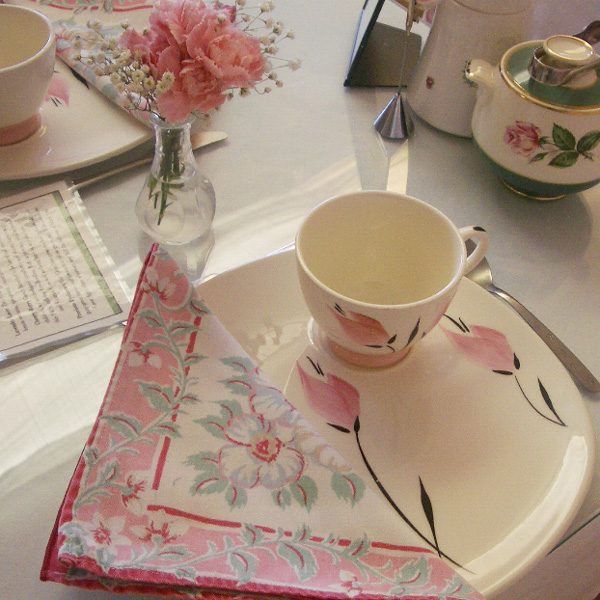 Pink T-Party Place Setting