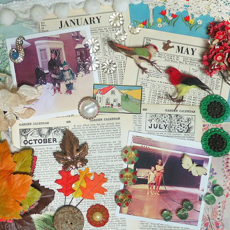 Susan's Shadow Box Items