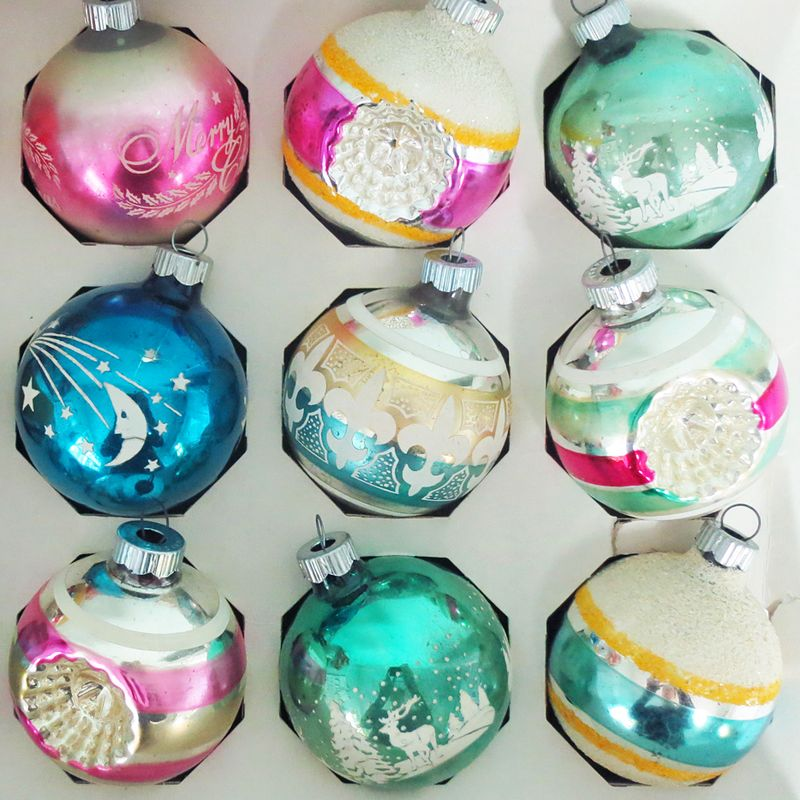 Shiny Brite Ornaments