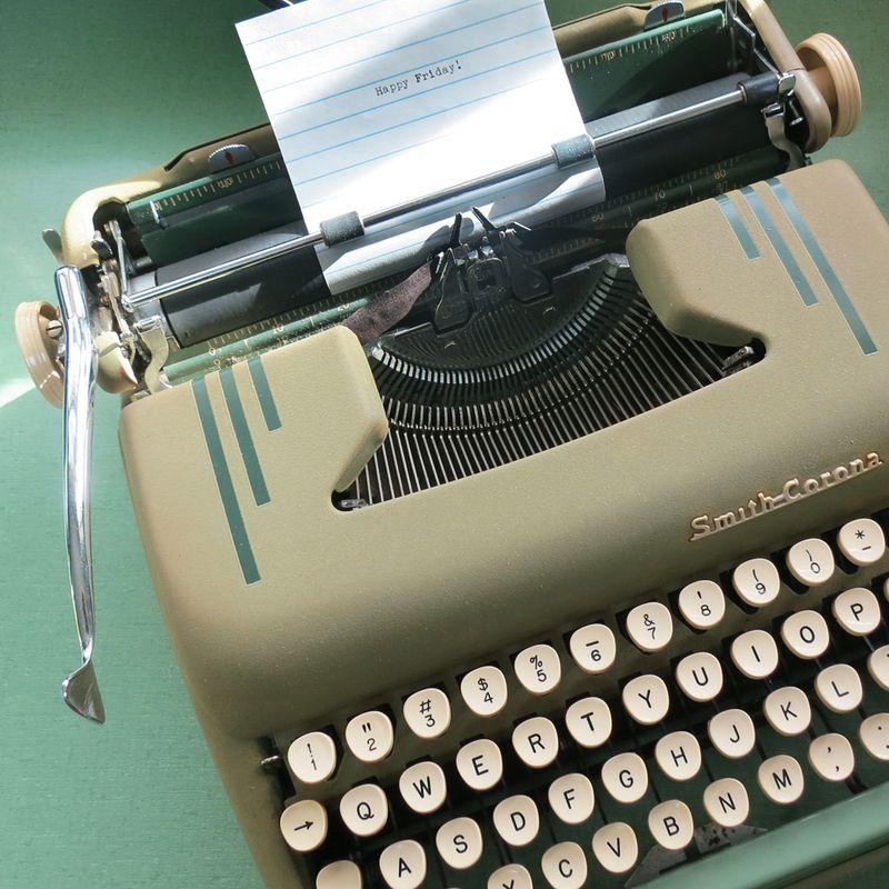 Happy Friday Typewriter