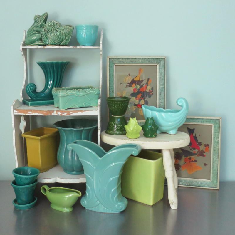Green & Aqua Pottery