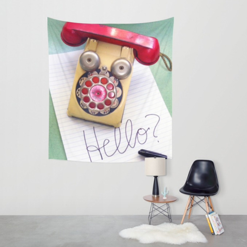 T-Party Telephone Wall Tapestry