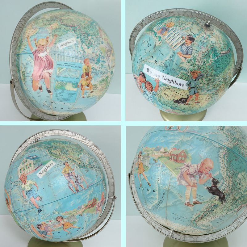 My Latest Altered Art Globe
