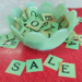 Green Sale Letters