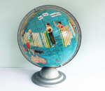 T-Party Antiques Altered Art Globe