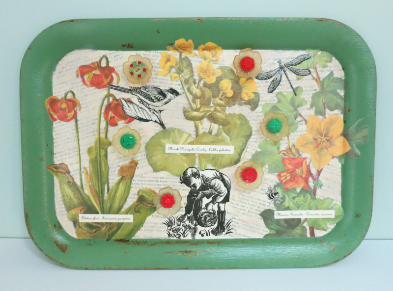 T-Party Antiques Wildflower tray 4