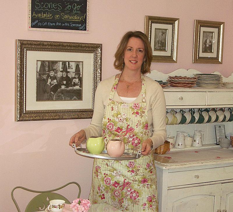Susan in the Tea Room