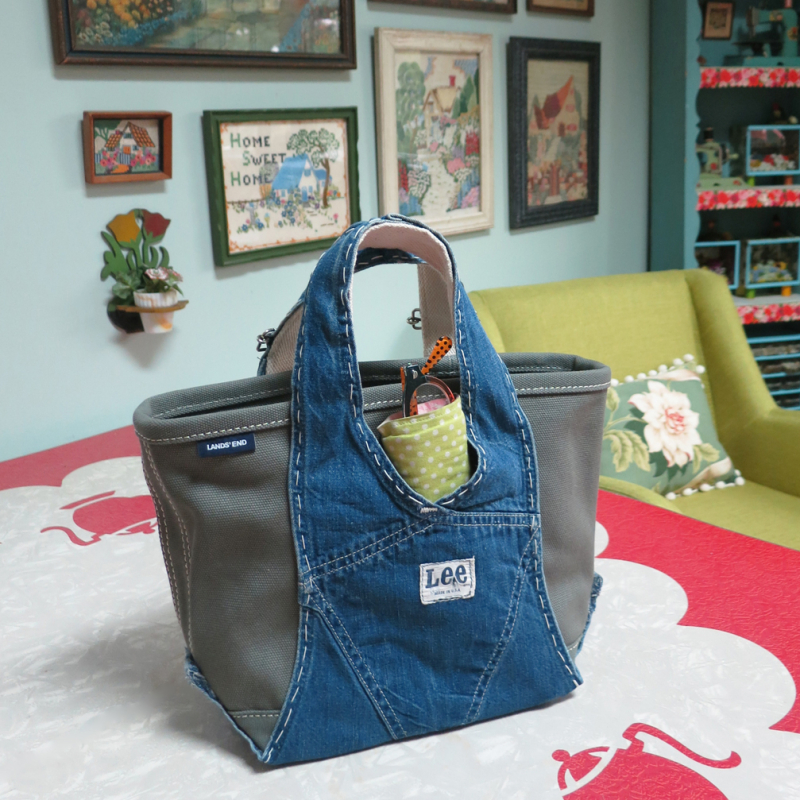 T-Party Antiques overalls tote bag back