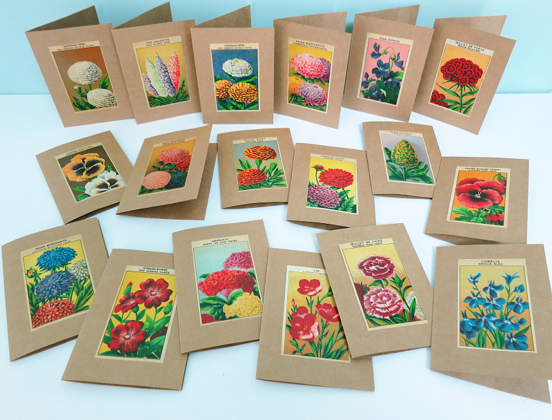 Seed Packet Labels Note Cards 1