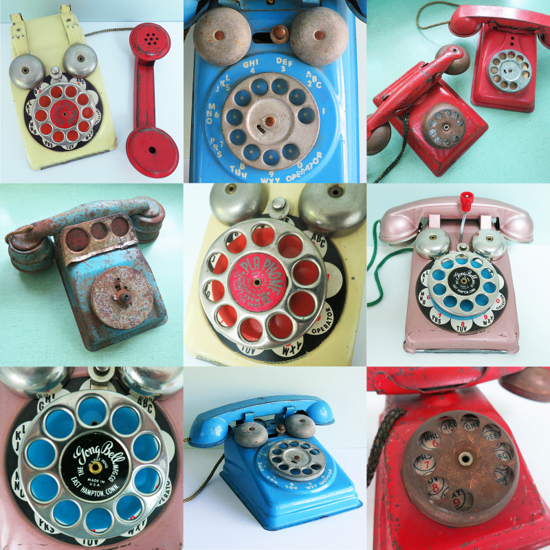 T-Party Antiques toy telephones