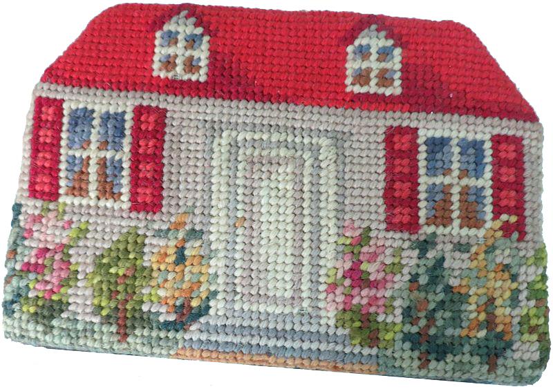 Needlepoint cottage