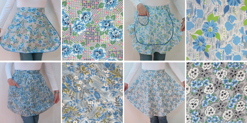 4 patterned apron