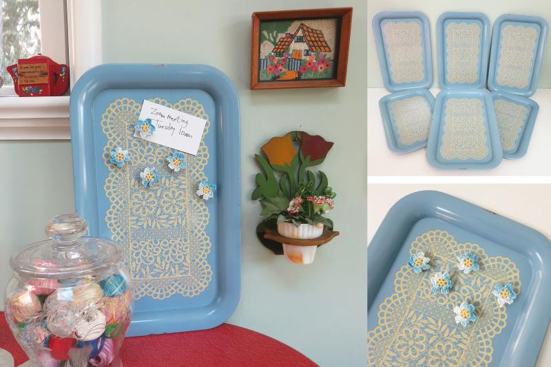 Blue lace tray lot