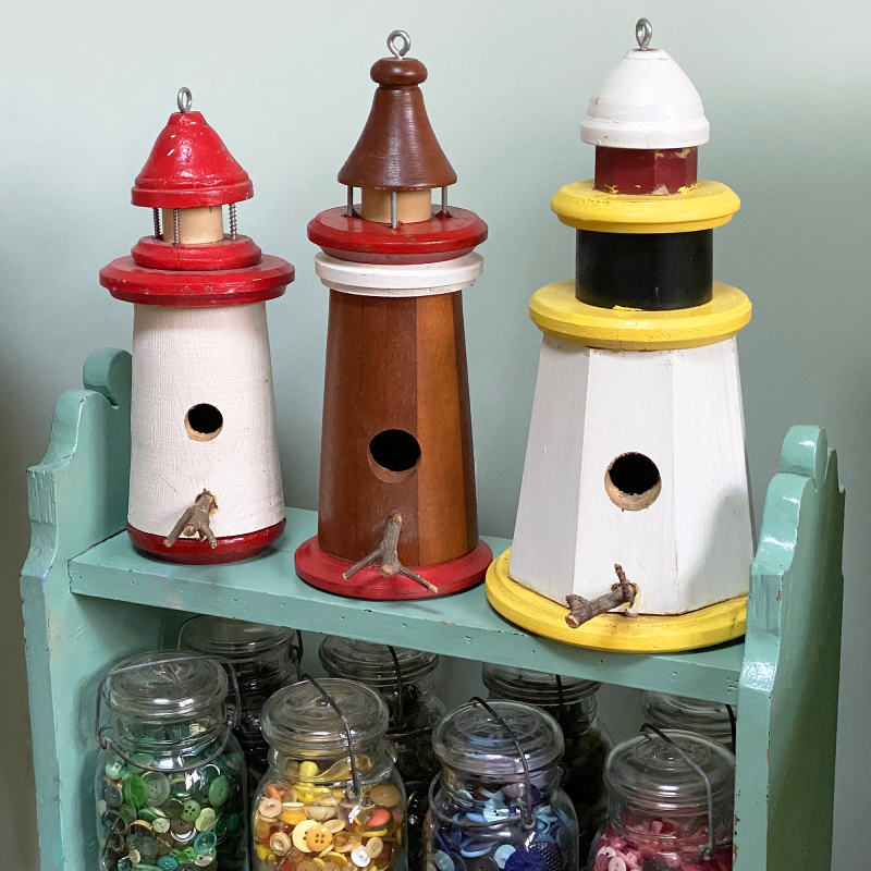Lighthouse birdhouses copy