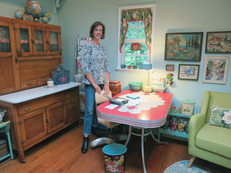Susan in her studio